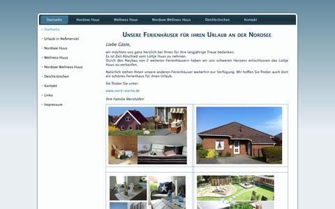 Screenshot of Home Page xn--lttje-huus-9db.de - Unsere Ferienhäuser für ihren Urlaub an der Nordsee - captured July 11, 2018