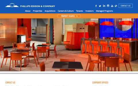 Screenshot of Contact Page phillipsedison.com - Contact Us | Phillips Edison & Company - captured Sept. 6, 2018