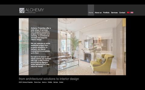 Screenshot of Home Page alchemyproperties.net - Alchemy Properties - captured Oct. 4, 2014