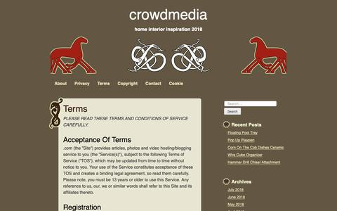 Screenshot of Terms Page crowdmedia.co - terms – crowdmedia - captured Oct. 19, 2018