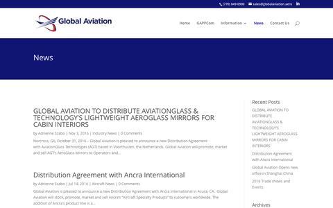 Screenshot of Press Page globalaviation.aero - News   Global Aviation - captured Nov. 7, 2016