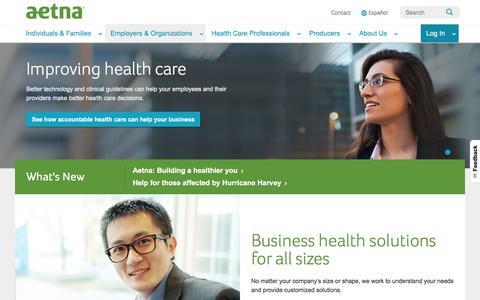 Employers & Organizations | Aetna