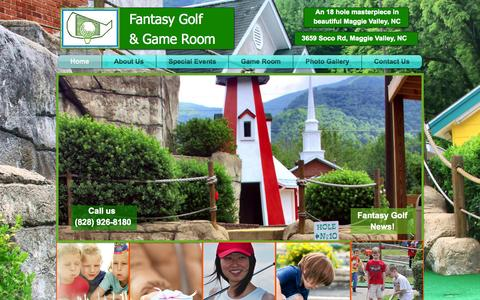 Screenshot of Home Page fantasygolfandgameroom.com - Fantasy Golf and Game Room - captured Sept. 30, 2014