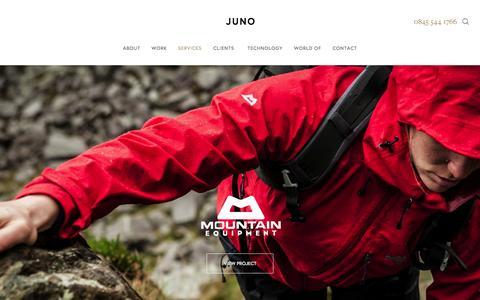 Screenshot of Services Page junowebdesign.com - Services - captured Oct. 1, 2015