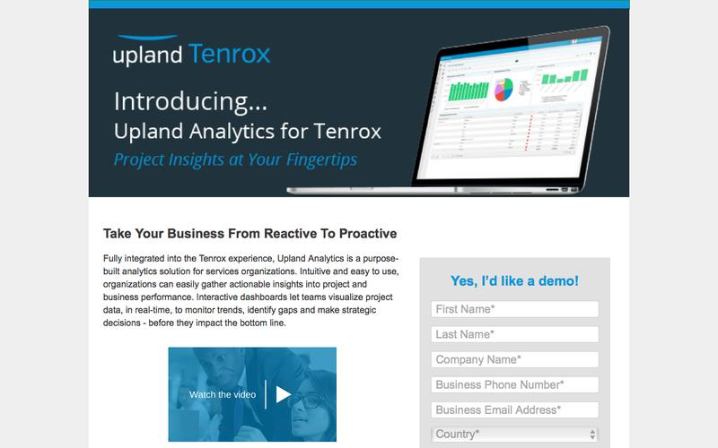 Introducing Upland Analytics for Tenrox