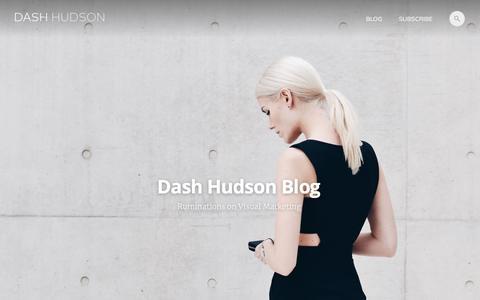 Screenshot of Blog dashhudson.com - Dash Hudson Blog - captured Nov. 3, 2019