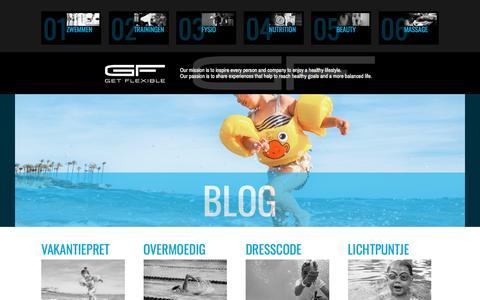 Screenshot of Blog getflexible.nl - Blog Archieven | Get Flexible - captured July 18, 2018