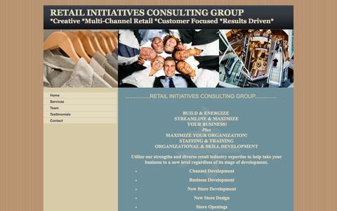 Screenshot of Home Page retailinitiatives.org - Retail Initiatives Consulting, B2B, Specializing Multi-channel, Stores, Websites, Healthcare, Government, Business to Business - captured Oct. 9, 2014