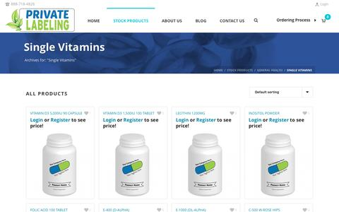 Single Vitamins Archives - Private Label Supplements and Vitamins