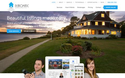 Screenshot of Home Page planomatic.com - PlanOmatic: Real Estate Photography & Floor Plans - captured Sept. 19, 2014