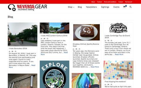 Screenshot of Blog reversegearinc.com - Blog   Reverse Gear - captured Sept. 20, 2018