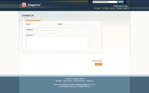 Screenshot of Contact Page goldnkoi.com - Magento Commerce - captured July 15, 2016