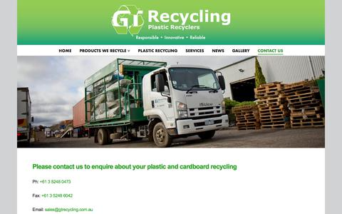 Screenshot of Contact Page gtrecycling.com.au - Contact Us - GT Recycling - captured July 12, 2017