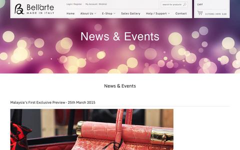 Screenshot of Blog be-bellarte.com - Malaysia Be-Bellarte Hand Crafted Italian Handbag Online - captured Oct. 5, 2014