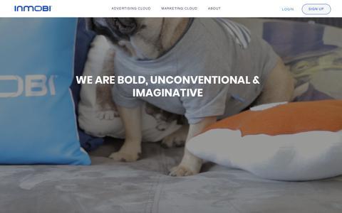 Screenshot of About Page inmobi.com - About InMobi | Mobile Advertising | Mobile Monetization - captured July 3, 2018
