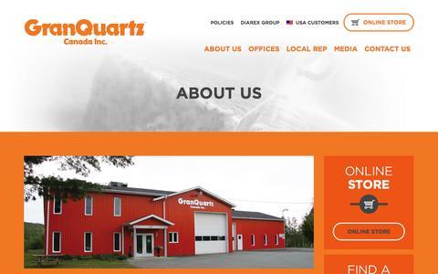 Screenshot of About Page granquartz.ca - About us - GranQuartz - captured Oct. 27, 2014