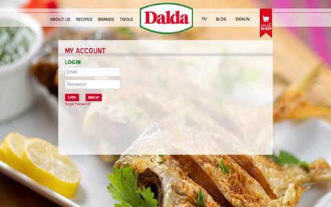 Screenshot of Login Page daldafoods.com - My Account | - captured Sept. 23, 2014