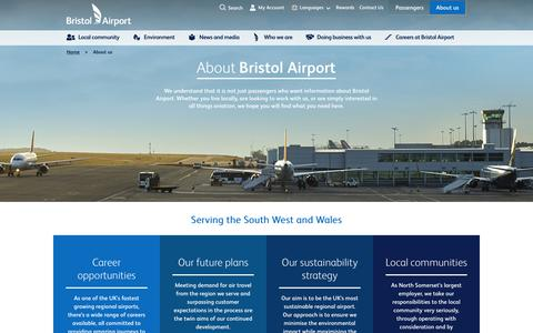 Screenshot of About Page bristolairport.co.uk - About Bristol Airport | Jobs, Community & Brand | Bristol Airport - captured June 3, 2017
