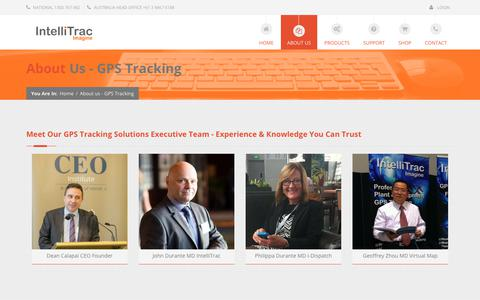 Screenshot of About Page intellitrac.com.au - About IntelliTrac GPS Fleet Management Systems, Job Dispatch, IVMS - captured Sept. 19, 2018