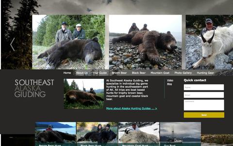 Screenshot of Home Page seaguiding.com - Southeast Alaska Guiding - captured Oct. 9, 2014