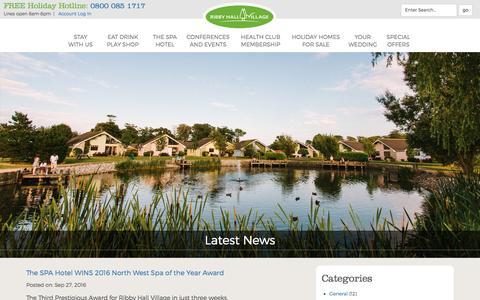 Screenshot of Press Page ribbyhall.co.uk - Ribby Hall Village News   Ribby Hall Village - captured Nov. 30, 2016