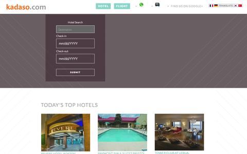 Screenshot of Home Page kadaso.com - Kadaso.com - Up To 30% Off Hotel Rooms. Last minute hotel deals - captured Oct. 6, 2014