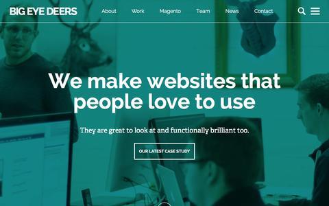 Screenshot of Case Studies Page bigeyedeers.co.uk - Our Work | Big Eye Deers - captured Feb. 7, 2016