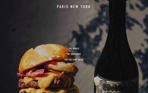 Screenshot of Menu Page pny-hamburgers.fr - Menu — PNY - captured April 15, 2016
