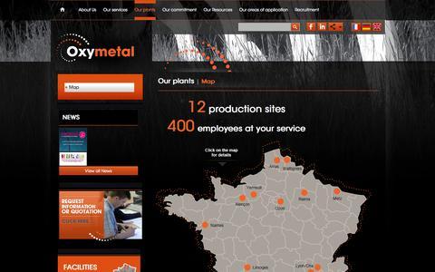 Screenshot of Maps & Directions Page oxymetal.com - Map | OXYMETAL - Votre partenaire de découpe industrielle - captured Nov. 5, 2014
