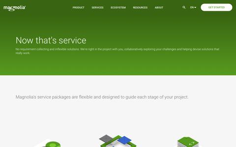Screenshot of Services Page magnolia-cms.com - Magnolia Services | Magnolia Java CMS - captured Aug. 18, 2019