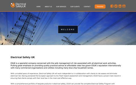 Screenshot of About Page elecsafety.co.uk - Welcome | Electrical Safety UK - captured April 4, 2018