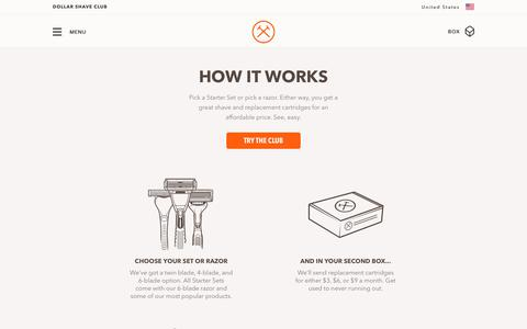 How It Works | Dollar Shave Club