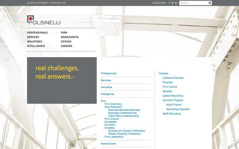 Screenshot of Site Map Page polsinelli.com - Site Map | Polsinelli - captured Oct. 14, 2017