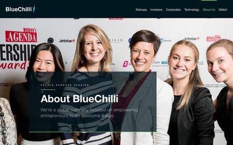 Screenshot of About Page bluechilli.com - Diverse and globally minded team | BlueChilli - captured Aug. 16, 2017