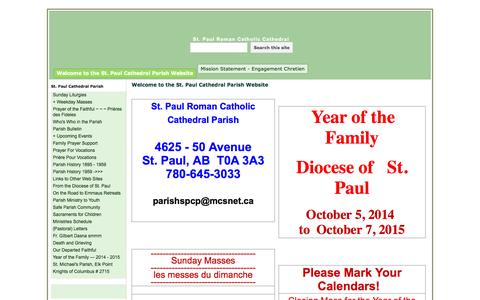 Screenshot of Home Page google.com - St. Paul Roman Catholic Cathedral - captured Sept. 23, 2015