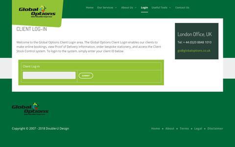 Screenshot of Login Page goms.co.uk - Login - captured Feb. 16, 2018