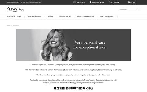 Screenshot of About Page kerastase.co.uk - About Us - captured March 2, 2017
