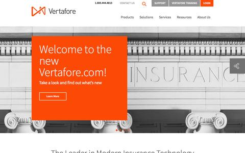 Screenshot of Support Page vertafore.com - Insurance Software and Agency Management Systems  | Vertafore - captured Sept. 19, 2014