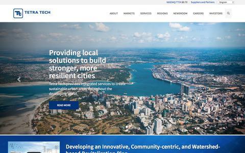 Screenshot of Home Page tetratech.com - Home - Tetra Tech - captured July 19, 2018