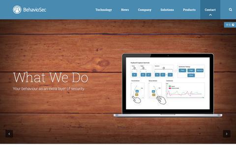 Screenshot of Home Page behaviosec.com - Behaviosec | The token you can't forget - captured Nov. 3, 2015