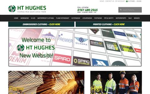 Screenshot of Home Page hthughes.com - A wide range of workwear and PPE - HT Hughes - captured Oct. 1, 2016
