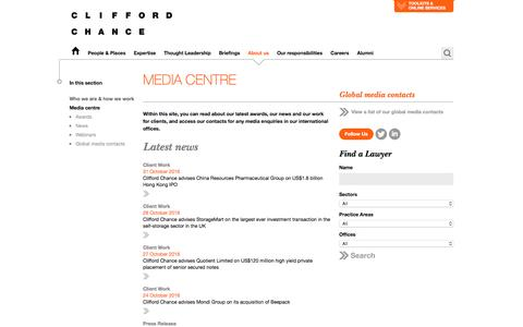 Clifford Chance | Media centre