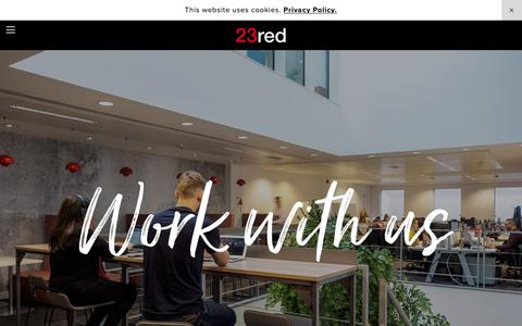 Screenshot of Jobs Page 23red.com - Careers — 23red - captured Feb. 17, 2019