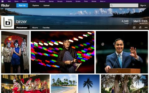 Screenshot of Flickr Page flickr.com - Flickr: birzer's Photostream - captured Oct. 23, 2014