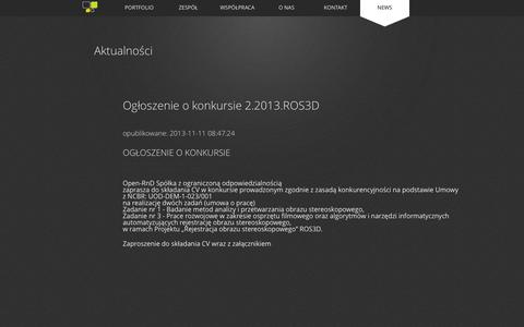 Screenshot of Press Page open-rnd.pl - Open-RnD - Open Research and Development - captured Oct. 29, 2014