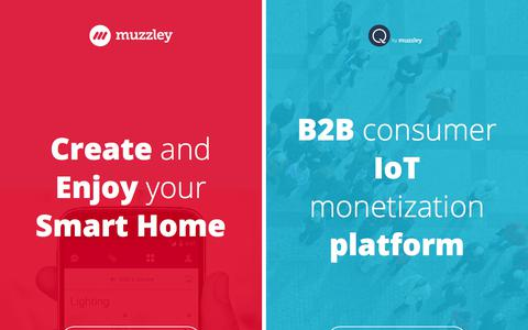 Screenshot of Home Page muzzley.com - Muzzley - Create and Enjoy your Smart Home - captured June 22, 2017