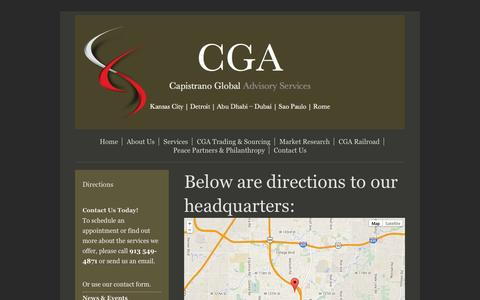 Screenshot of Maps & Directions Page cgacorp.com - Directions - Capistrano Global Advisory Services - captured Oct. 1, 2014