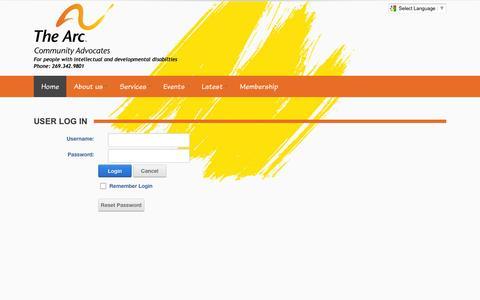 Screenshot of Login Page communityadvocates.org - User Log In - captured Feb. 13, 2016