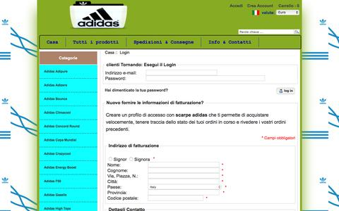 Screenshot of Login Page siavsistemi.it - Login : scarpe adidas - captured Nov. 29, 2016