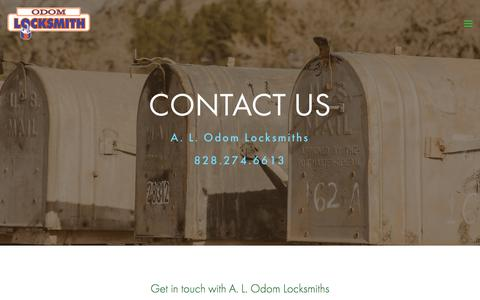 Screenshot of Contact Page alodom.com - Contact Us | A.L. Odom Locksmiths — A. L. Odom Locksmiths - captured July 9, 2017